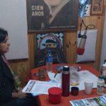 """2013 - FM NOVENTA. La legisladora Rocío Sánchez Andía (CC) visita """"Popurrí de poco un todo""""."""